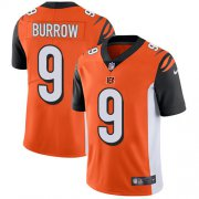 Wholesale Cheap Nike Bengals #9 Joe Burrow Orange Alternate Men's Stitched NFL Vapor Untouchable Limited Jersey