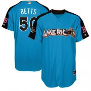 Wholesale Cheap Red Sox #50 Mookie Betts Blue 2017 All-Star American League Stitched Youth MLB Jersey