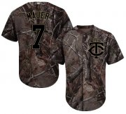 Wholesale Cheap Twins #7 Joe Mauer Camo Realtree Collection Cool Base Stitched Youth MLB Jersey