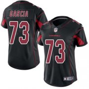 Wholesale Cheap Nike Cardinals #73 Max Garcia Black Women's Stitched NFL Limited Rush Jersey