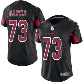 Wholesale Cheap Nike Cardinals #73 Max Garcia Black Women\'s Stitched NFL Limited Rush Jersey