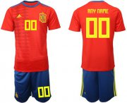 Wholesale Cheap Spain Personalized Home Soccer Country Jersey