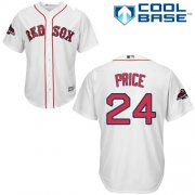 Wholesale Cheap Red Sox #24 David Price White Cool Base 2018 World Series Champions Stitched Youth MLB Jersey