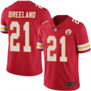 Wholesale Cheap Nike Chiefs #21 Bashaud Breeland Red Team Color Youth Stitched NFL Vapor Untouchable Limited Jersey