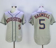 Wholesale Astros #5 Jeff Bagwell Grey Flexbase Authentic Collection Stitched Baseball Jersey