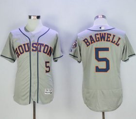 Wholesale Cheap Astros #5 Jeff Bagwell Grey Flexbase Authentic Collection Stitched MLB Jersey