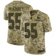 Wholesale Cheap Nike Texans #55 Benardrick McKinney Camo Youth Stitched NFL Limited 2018 Salute to Service Jersey