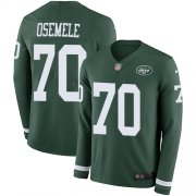 Wholesale Cheap Nike Jets #70 Kelechi Osemele Green Team Color Men's Stitched NFL Limited Therma Long Sleeve Jersey