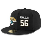 Wholesale Cheap Jacksonville Jaguars #56 Dante Fowler Jr Snapback Cap NFL Player Black with White Number Stitched Hat
