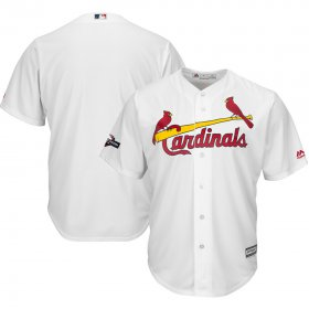 Wholesale Cheap St. Louis Cardinals Majestic 2019 Postseason Official Cool Base Player Jersey White