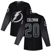 Cheap Adidas Lightning #20 Blake Coleman Black Alternate Authentic Youth Stitched NHL Jersey