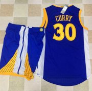 Wholesale Cheap Warriors #30 Stephen Curry Blue A Set Stitched NBA Jersey