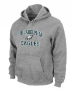 Wholesale Cheap Philadelphia Eagles Heart & Soul Pullover Hoodie Grey