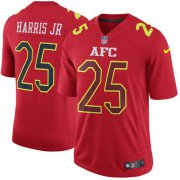 Wholesale Cheap Nike Broncos #25 Chris Harris Jr Red Men's Stitched NFL Game AFC 2017 Pro Bowl Jersey