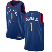 Wholesale Cheap Nike Denver Nuggets #1 Michael Porter Jr. Navy NBA Swingman City Edition Jersey