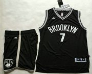 Wholesale Cheap Men's Brooklyn Nets #7 Jeremy Lin Black Revolution 30 Swingman Basketball Jersey With Shorts