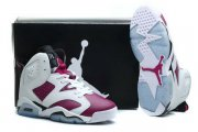 Wholesale Cheap Air Jordan 6 Grapes Shoes White/purple-black