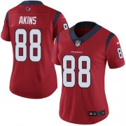 Wholesale Cheap Nike Texans #88 Jordan Akins Red Alternate Women's Stitched NFL Vapor Untouchable Limited Jersey