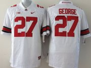 Wholesale Cheap Ohio State Buckeyes #27 Eddie George 2014 White Limited Jersey