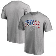 Wholesale Cheap Men's Houston Texans Pro Line by Fanatics Branded Heathered Gray Banner Wave T-Shirt