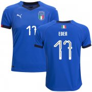 Wholesale Cheap Italy #17 Eder Home Kid Soccer Country Jersey