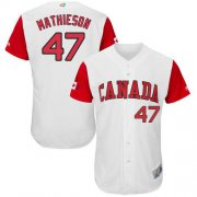 Wholesale Cheap Team Canada #47 Scott Mathieson White 2017 World MLB Classic Authentic Stitched MLB Jersey