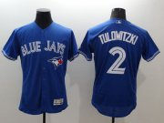 Wholesale Cheap Blue Jays #2 Troy Tulowitzki Blue Flexbase Authentic Collection Stitched MLB Jersey