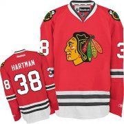 Wholesale Cheap Blackhawks #38 Ryan Hartman Red Home Stitched Youth NHL Jersey