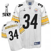 Wholesale Cheap Steelers #34 Rashard Mendenhall White Super Bowl XLV Stitched NFL Jersey