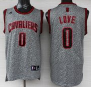 Wholesale Cheap Cleveland Cavaliers #0 Kevin Love Gray Static Fashion Jersey