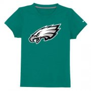 Wholesale Cheap Philadelphia Eagles Authentic Logo Youth T-Shirt Light Green