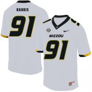 Wholesale Cheap Missouri Tigers 91 Charles Harris White Nike College Football Jersey