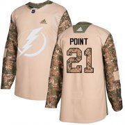 Wholesale Cheap Adidas Lightning #21 Brayden Point Camo Authentic 2017 Veterans Day Stitched Youth NHL Jersey