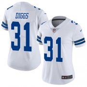 Wholesale Cheap Nike Cowboys #31 Trevon Diggs White Women's Stitched NFL Vapor Untouchable Limited Jersey