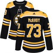 Wholesale Cheap Adidas Bruins #73 Charlie McAvoy Black Home Authentic Women's Stitched NHL Jersey