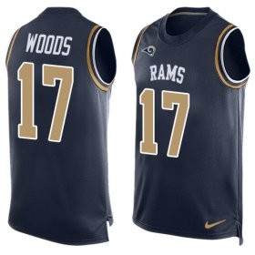 Wholesale Cheap Nike Rams #17 Robert Woods Navy Blue Team Color Men\'s Stitched NFL Limited Tank Top Jersey