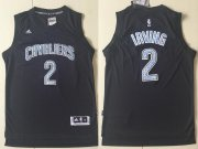 Wholesale Cheap Men's Cleveland Cavaliers #2 Kyrie Irving Black Diamond Stitched NBA Adidas Revolution 30 Swingman Jersey