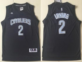 Wholesale Cheap Men\'s Cleveland Cavaliers #2 Kyrie Irving Black Diamond Stitched NBA Adidas Revolution 30 Swingman Jersey