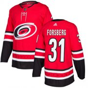 Wholesale Cheap Adidas Hurricanes #31 Anton Forsberg Red Home Authentic Stitched Youth NHL Jersey
