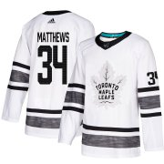 Wholesale Cheap Adidas Maple Leafs #34 Auston Matthews White Authentic 2019 All-Star Stitched NHL Jersey