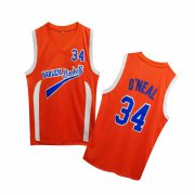 Wholesale Cheap Uncle Drew Harlem Buckets 34 Shaquille O'Neal Orange Movie Basketball Jersey