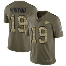 Wholesale Cheap Nike Chiefs #19 Joe Montana Olive/Camo Men\'s Stitched NFL Limited 2017 Salute To Service Jersey