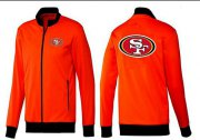 Wholesale Cheap NFL San Francisco 49ers Team Logo Jacket Orange