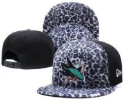 Wholesale Cheap San Jose Sharks Snapback Ajustable Cap Hat GS 4