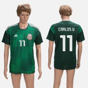 Wholesale Cheap Mexico #11 Carlos V. Green Training Soccer Country Jersey