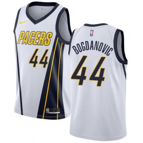 Wholesale Cheap Nike Pacers #44 Bojan Bogdanovic White NBA Swingman Earned Edition Jersey