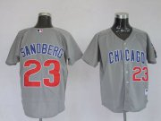 Wholesale Cheap Cubs #23 Ryne Sandberg Stitched Grey MLB Jersey