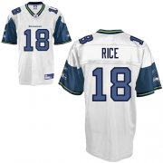 Wholesale Cheap Seahawks #18 Sidney Rice White Stitched NFL Jersey