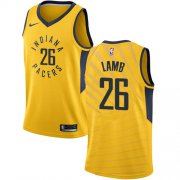 Wholesale Cheap Nike Pacers #26 Jeremy Lamb Gold NBA Swingman Statement Edition Jersey