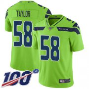 Wholesale Cheap Nike Seahawks #58 Darrell Taylor Green Youth Stitched NFL Limited Rush 100th Season Jersey